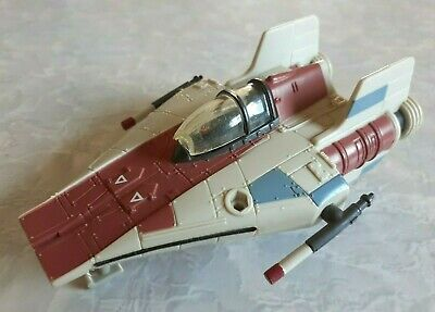 Vintage 1995 Star Wars Micro Machines Action Fleet A-Wing Red Star Fighter