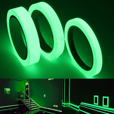Luminous Tape Self-adhesive Glow In The Dark Safety Stage Sticker Home Decor 10M