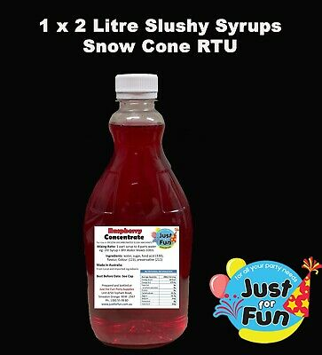 1 x 2 Litre Slushy Syrup / Snow Cone Concentrated Slushie Mix