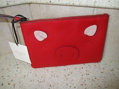Kate Spade Year Of The Pig Small Red Willa Wristlet Bnwt