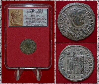 Ancient Roman Empire Coin LICINIUS I  Campgate Silvered Museum Quality Coin!