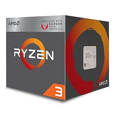 NEW! Amd Ryzen 3 2200G With Radeon Rx Vega 8 Graphics 3.5Ghz Quad Core Am4 Socke