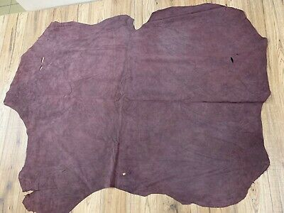 **CLEARANCE**  SUEDE DOUBLE BUTT - MAHOGANY 1mm
