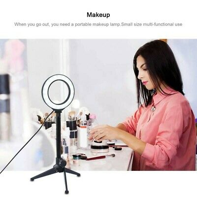 4.7'' USB White LED Ring Vlogging Photography Video Light With Tripod Stand