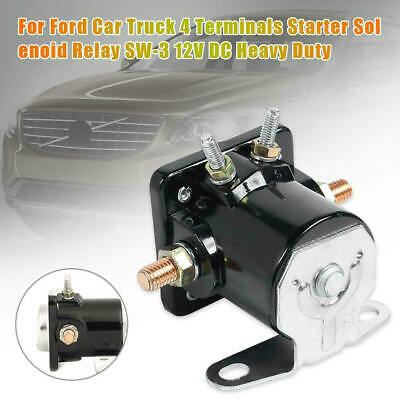 SW-3 Heavy Duty Car Truck Starter Solenoid Relay 4 Terminal for Ford 12V Replace