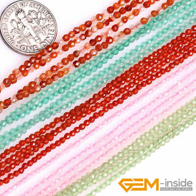 """Faceted Gemstone Assorted Tiny Seed Spacer Loose Bead For Jewelry Making 15"""""""