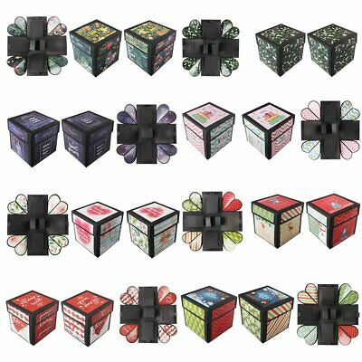 Tetrahedron Explosion Box With Theme Sticker Confession Birthday Surprise T#