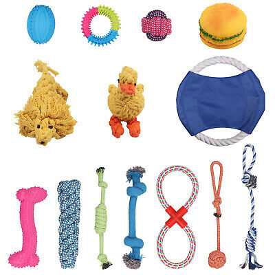 Pet Dog Puppy Toy Rope Teething Chew And Teeth Cleaning Cotton Rope Toys