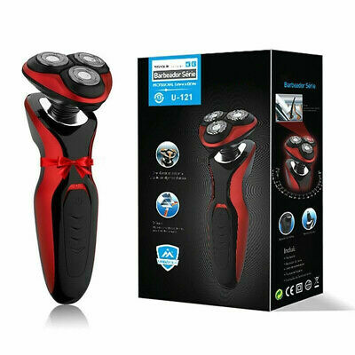 Electric Shaver Men's Razor Wet Dry Rotary Shaver Rechargeable Cordless UK Plug