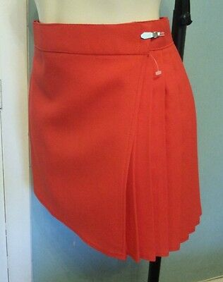 "GYMPHLEX Girls/Ladies SCARLET RED School Gym Kilt/Skirt W30"" 14+ yrs- NEW!"