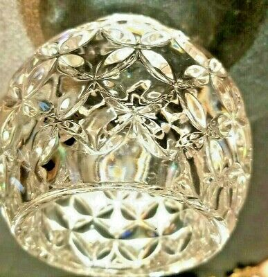Crystal Candy Dish Candle Holder Vintage Vase Pattern Clear Inverted Star GSP