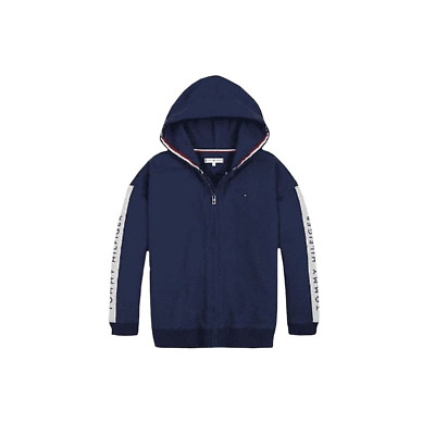 Tommy Hilfiger Girls  Navy Tape Through Logo Hooded Tracksuit.