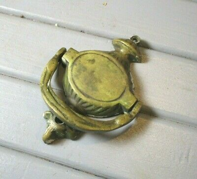 Small Antique Brass Door Knocker ~ Front can be Engraved w/ Name or Number