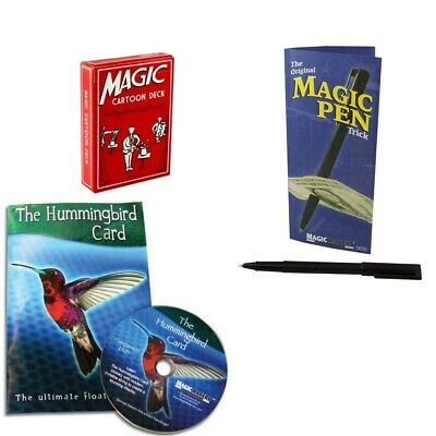 Magic Makers Ultimate Pocket Kit Cartoon Deck, Penetration Pen, Hummingbird Card