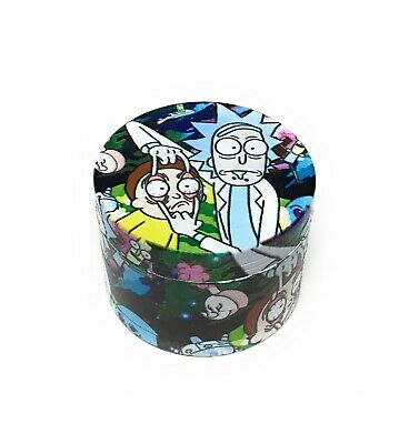 Dice Poker Casino Rainbow Tobacco Herb 4 Piece 2 inch Colorful Crusher Grinder