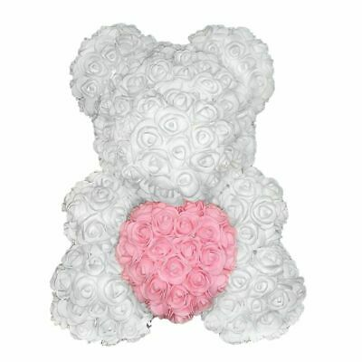 Rose Bear With Artificial Flower Teddy Valentines Day Present Wedding Gift Heart