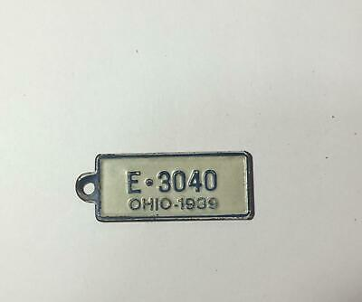 1939 OHIO BF Goodrich Tires Advertising Mini License Plate Tag Key *E-3040*