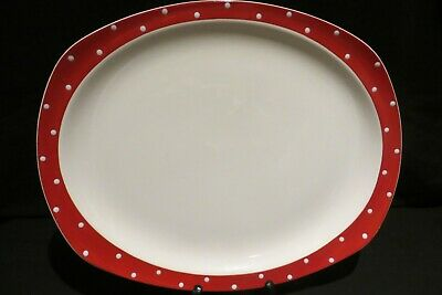 Large Midwinter Stylecraft Serving Platter Red Domino By Jessie Tait