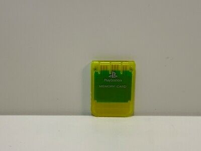 Genuine Authentic Original Sony Playstation 2 PS2 Memory Card - Clear Yellow