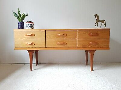 Superb Mid Century Sideboard Chest of Drawers Storage Vintage Retro 60s 70s