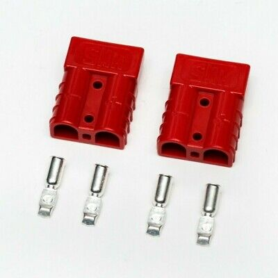 50A red Anderson type connectors and terminals 6 gauge 16mm2