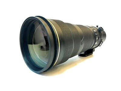 Nikon AF-S Nikkor 500mm F/4 G ED N VR Lens w/ Caps, Hood + Case - Near Perfect!