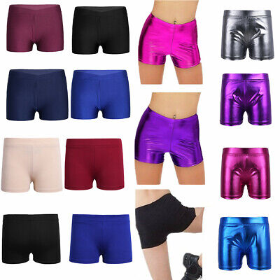 Kids Girls Ballet Dance Shorts Sports Gym Workout Yoga Cycling Running Bottoms