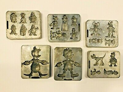 Vintage Marx Disney Toy Molds Donald Duck Mickey Mouse Snow White Pinocchio