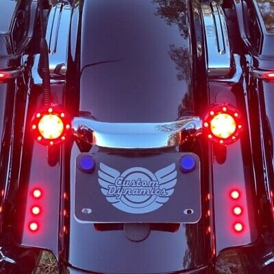 Custom Dynamics ProBeam Black Bullet Ringz Red Lens LED Rear Signals 1157