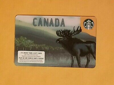 Starbucks Canada Moose Gift Card Reloadable Empty RARE