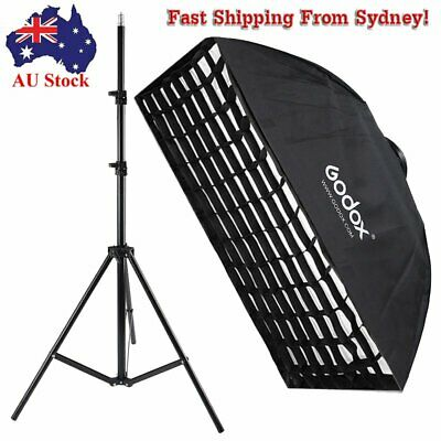 Godox Photography 60x90cm Honeycomb Grid Softbox Bowens Mount SN-302 Light Stand