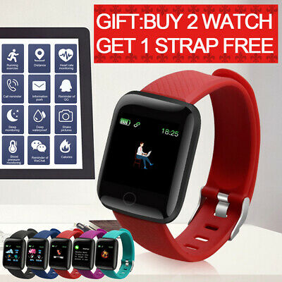 116Plus Smart Watch Wristband Bluetooth Blood Pressure Fitness Activity Tracker