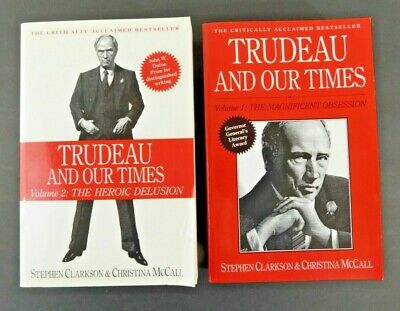 PIERRE TRUDEAU and our Times - 2 vol set Canada Prime Minister 1st ed PB 1090 pp