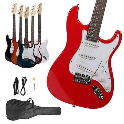 New Colorful Electric Guitar+Strap+Cord+Gigbag Beginner Pack Musical Instruments