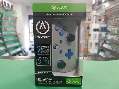 PowerA 1506684-01 Enhanced Wired Controller for Xbox One - Grey-Blue.