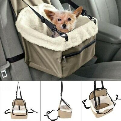 Pet Puppy Cat Dog Car Seat Carrier Cover Safety Belt Travel Folding Booster Bag