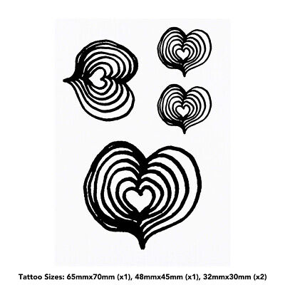 'Heart Shape' Temporary Tattoos (TO010177)