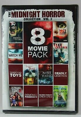 8-Movie Pack Midnight Horror Collection Vol 2 BRAND NEW DVD EVIL BONG 2 & More!
