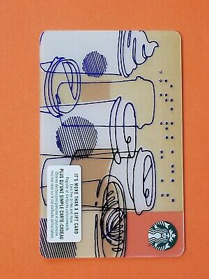 Starbucks Braille 'Coffee Cups' Gift Card Reloadable Empty RARE