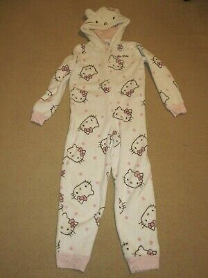 Girl's Hello Kitty fleecy all-in-one/PJs size 9-10 years M&S