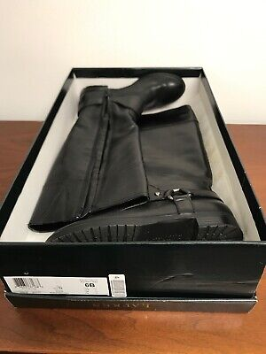 Ralph Lauren Collection Knee High Sulita Riding Boot Women size 6 Black Leather