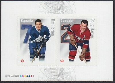 TIM HORTON, DOUG HARVEY = HOCKEY = BK PAGE OF 2 = MNH Canada 2014 #2787a,b