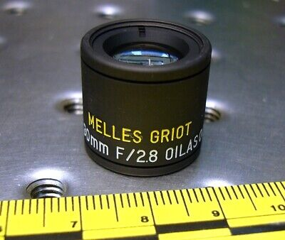 MELLES GRIOT 01LAS001 MOUNTED AIR SPACED TRIPLET LENS FL 30mm F 2.8 NEW IN BOX