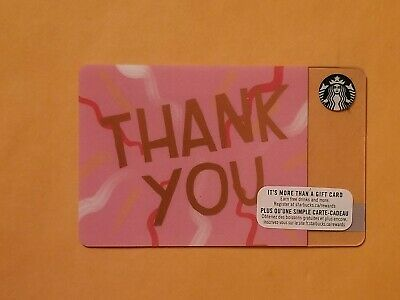 Starbucks Thank You Pink Gift Card Reloadable Empty RARE