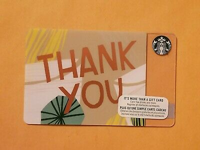 Starbucks Thank You Gift Card Reloadable Empty