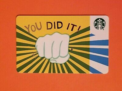 Starbucks 'You Did It' Gift Card Reloadable Empty RARE