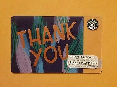 Starbucks Thank You Gift Card Reloadable Empty RARE