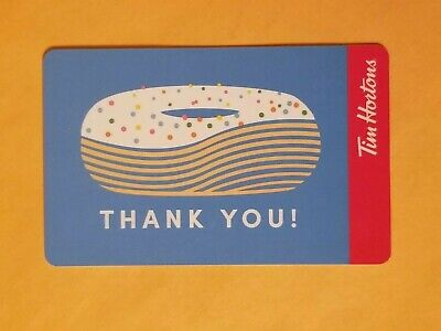 Tim Hortons Donut With Sprinkles Thank You Empty Gift Card Reloadable