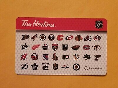Tim Hortons NHL Teams Empty Gift Card Reloadable RARE 31 Teams