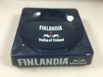Gros Cendrier publicitaire vintage ashtray FINLANDIA Vodka of Finland